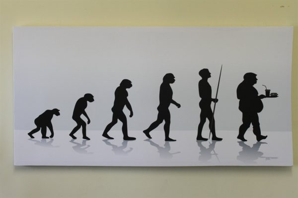Large 'Evolution of Man' Canvas Print