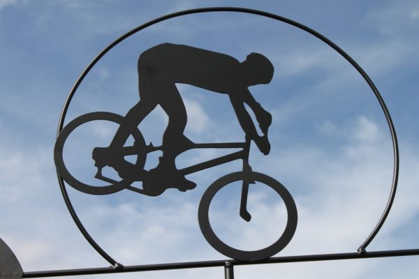 Cyclist Weathervane