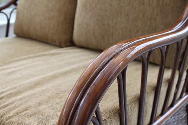 Verona Cane Furniture -Single Chair - Coffee colour