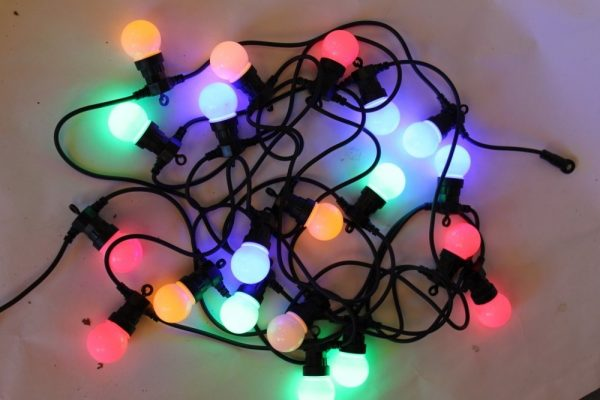 20 Multi Coloured LED Light Festoon Sets- For Outdoor or Indoor Use