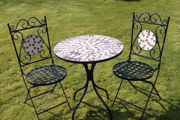 2 Seater 'Cafe' Mosaic Bistro Patio Garden Set