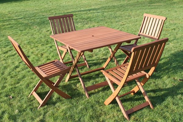Victoria Quality Solid Hardwood Square Garden Dining Set