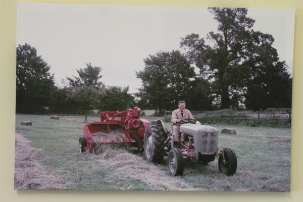 Ferguson FE35 Tractor with a Straw Baler