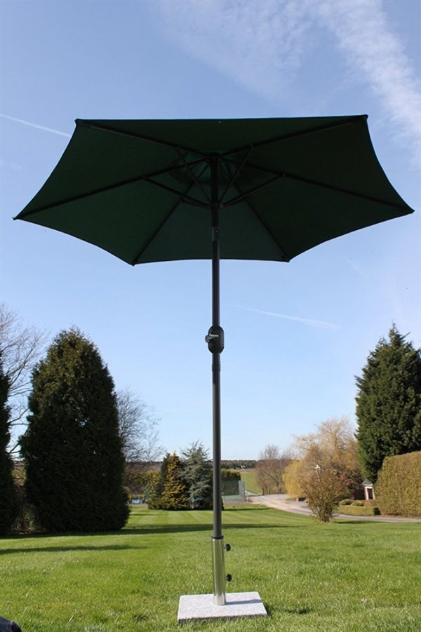 2.1M Wide Parasol With Tilt and Crank-Green