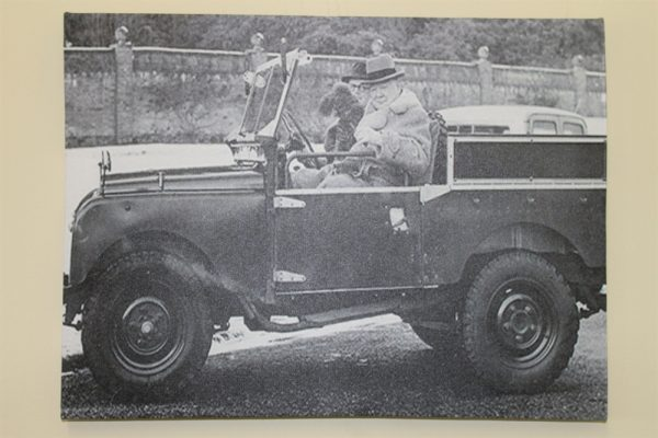 Winston Churchill In His Series 1 Land Rover