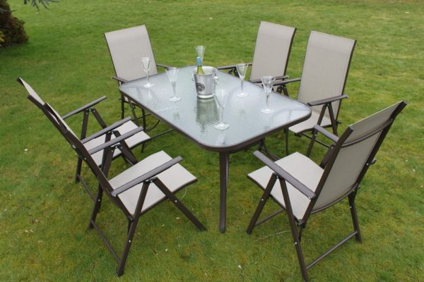 Henley 6 Seater Garden Dining Set-WR2096-WR1652