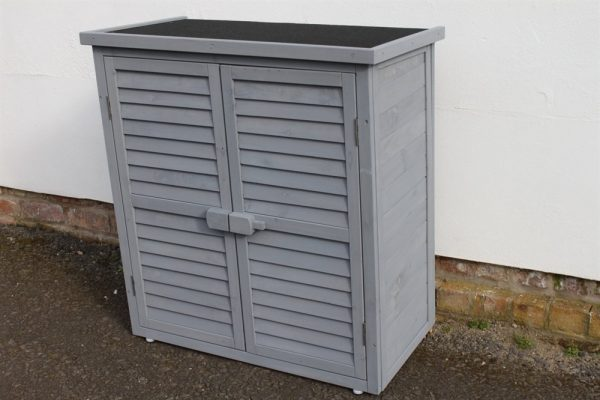 Garden Tool Shed In Grey-WS-95-Grey