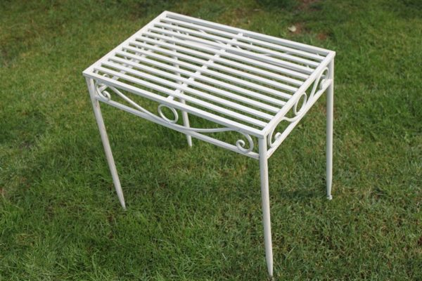 Metal Table Antique White Finish (Large Size)