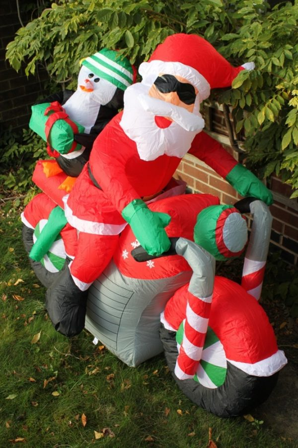 Inflatable Santa on Motorbike 1.5M Wide