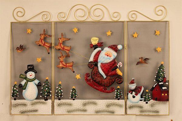 Santa, Reindeer & Snowman Fire Guard
