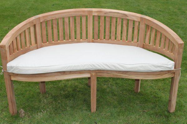 Banana / Peanut Shaped Garden Bench Cushion- 6 Colours Available