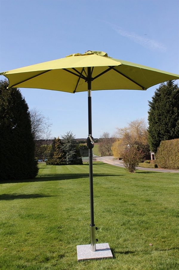 2.1M Wide Parasol With Tilt & Crank-Lime Green