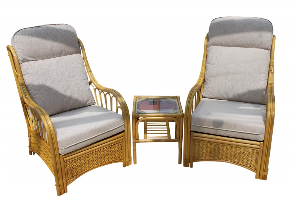 Incredible Sorrento Cane Furniture 2 Chairs Side Table Cream Spiritservingveterans Wood Chair Design Ideas Spiritservingveteransorg