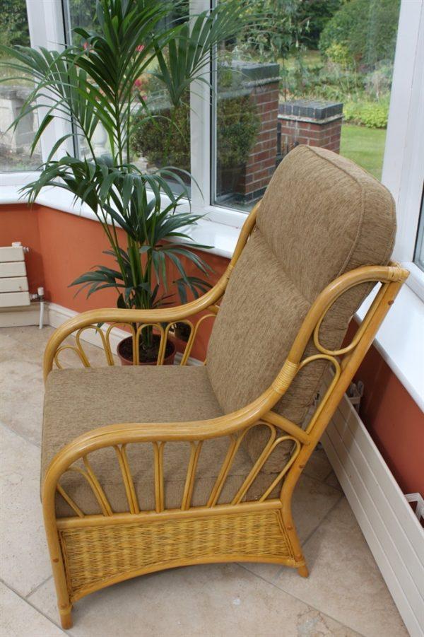 Sorrento Cane Furniture -Single Chair - Coffee