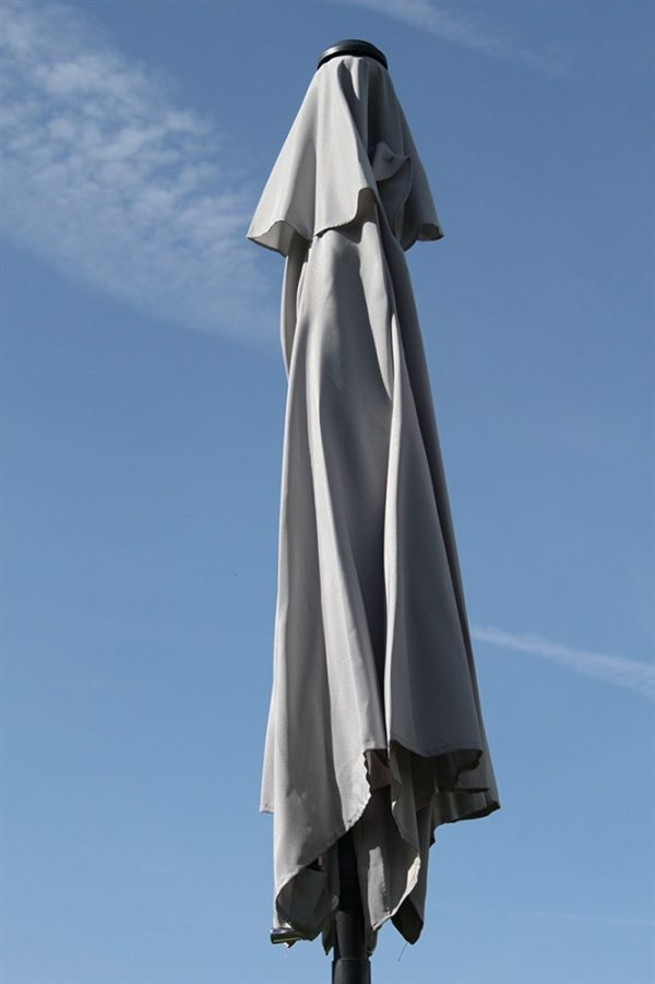 2.1M Wide Parasol With Tilt and Crank-Grey