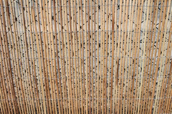 Peeled Willow Fencing Rolls 1.8M Tall and 3.8M Long