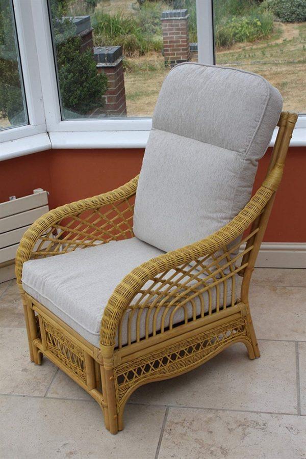 Portofino Cane Furniture- 2 Chairs & Side Table- Cream