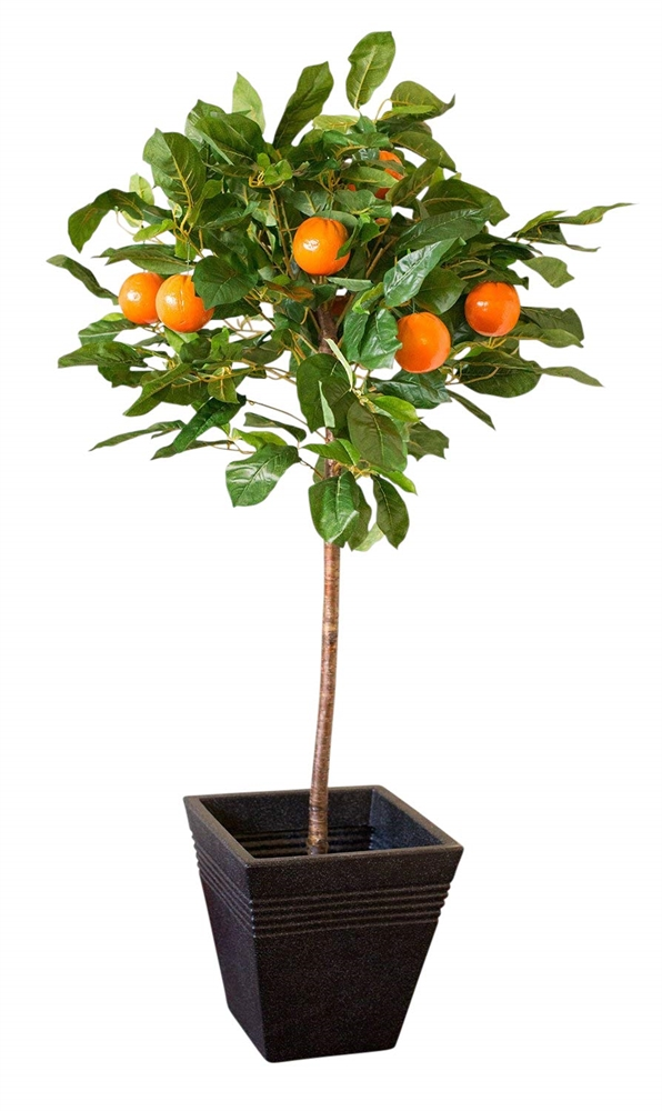 1.2M Tall Artificial Orange Tree With Planter