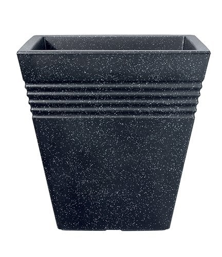 Stewart Piazza Planter 40cm square Granite colour