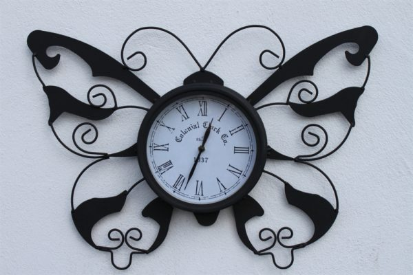 Butterfly Design Decorative Garden Clock