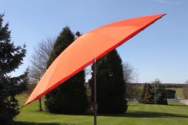 2.7M Wide Shanghai Parasol in Terracotta