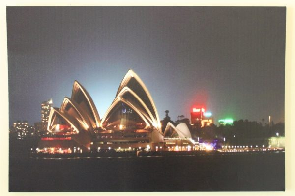 Sydney Opera House Print With LED Lights