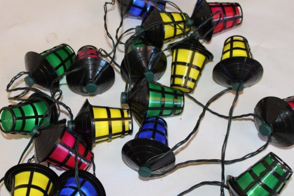 20 Multi Coloured LED Lantern Light Festoon Sets - For Outdoor or Indoor Use