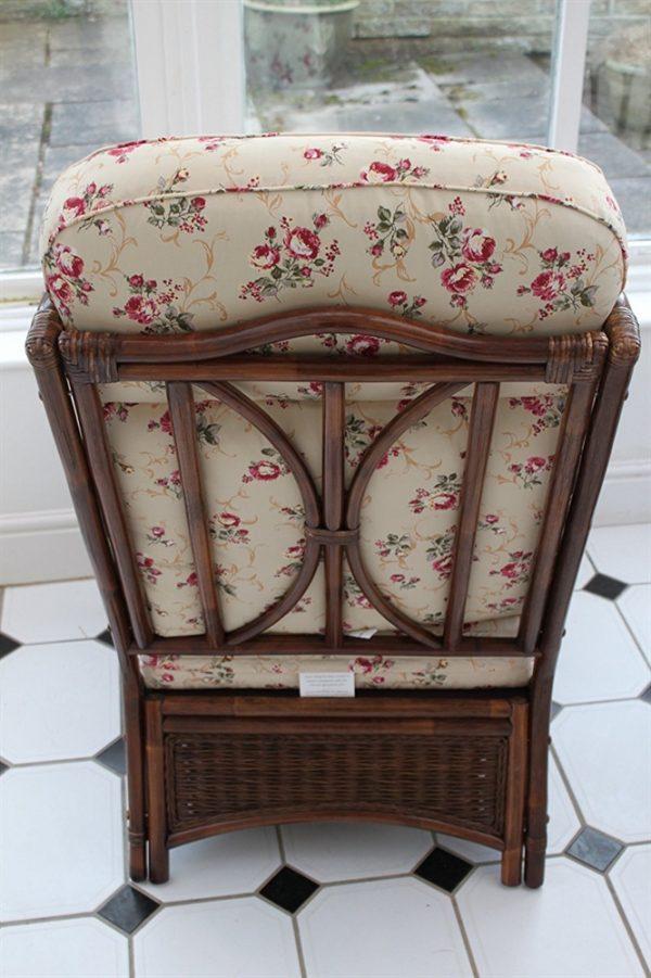 Verona Cane 3 Piece Suite - 2 Chairs & Sofa- Rose Design