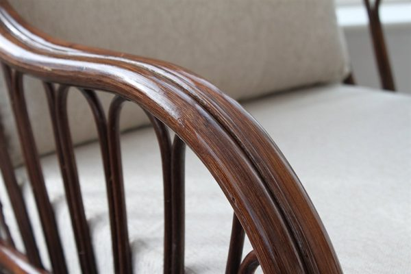 Verona Cane 3 Piece Suite - 2 Chairs & Sofa- Cream Colour