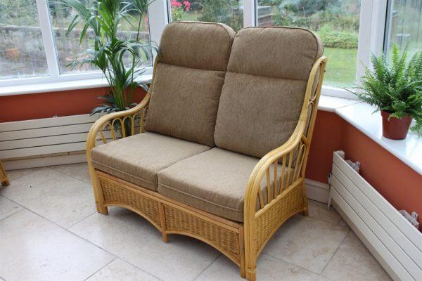 Sorrento Cane Furniture -2 Seater Sofa - Coffee