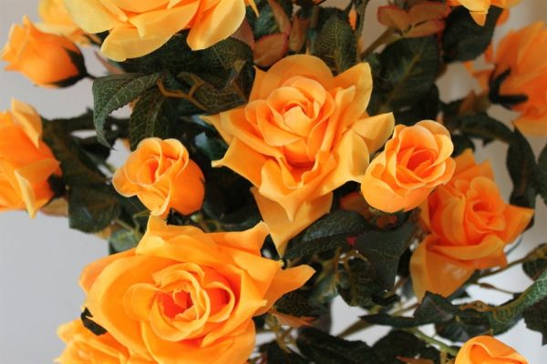 1M Tall Artificial Half Standard Rose Tree - Orange