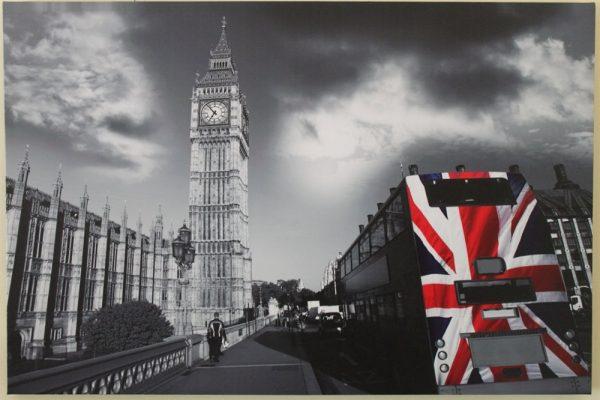 Big Ben & London Bus Scene Print HD1374