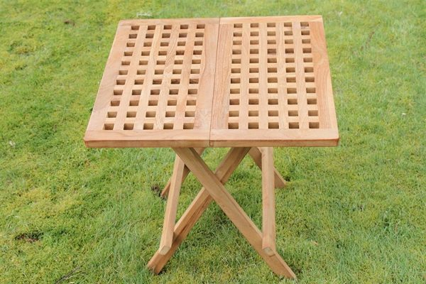 Olive Grove Solid Teak Folding Side Table