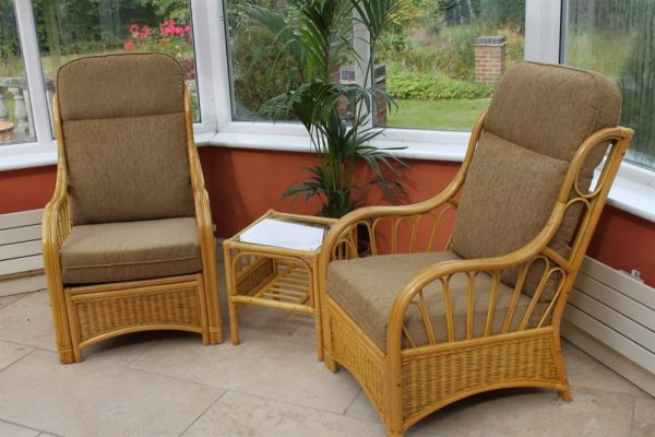 Sorrento Duo Set- 2 Chairs and a Side Table- Coffee Fabric