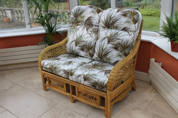 Portofino Cane Furniture -2 Seater Sofa - Palm