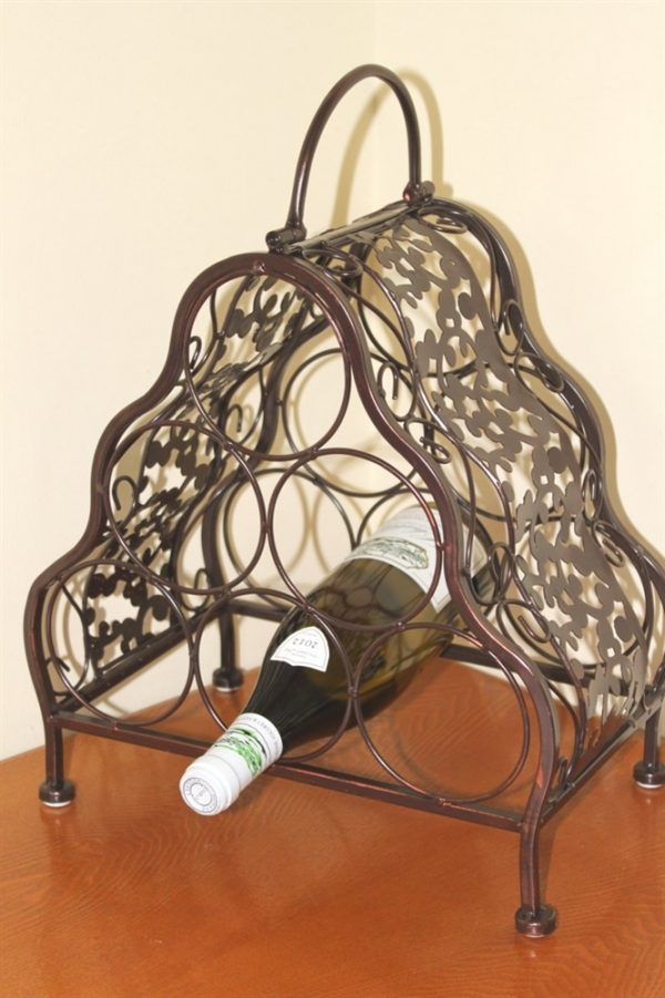 Decorative Wine Rack for 6 Bottles