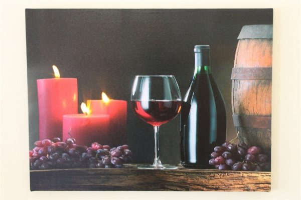 Barrel, Wine and Candles print LED HD1290