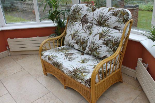 Sorrento Cane Furniture -2 Seater Sofa - Palm