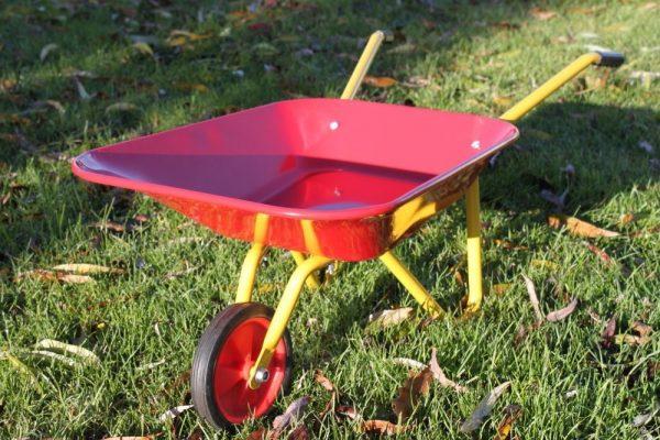 Childrens Red & Yellow Steel Wheelbarrow