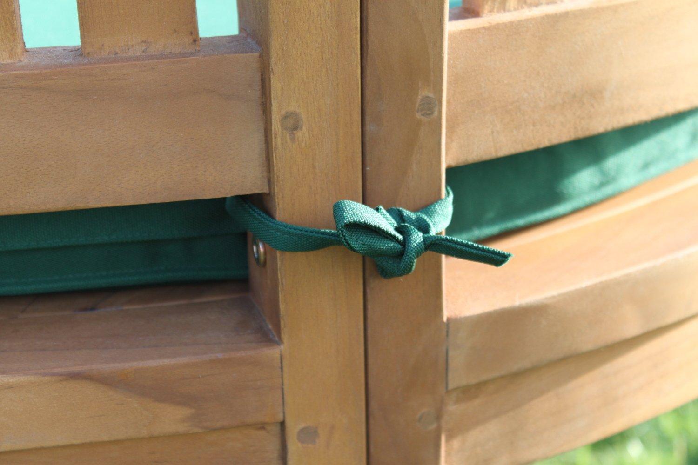 Solid Teak Peanut Shape 2 Or 3 Seater Garden Bench