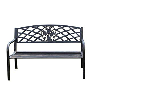 Swell Metal Garden Bench With Cast Iron Floral Pattern Insert 2 Or 3 Seater Beatyapartments Chair Design Images Beatyapartmentscom